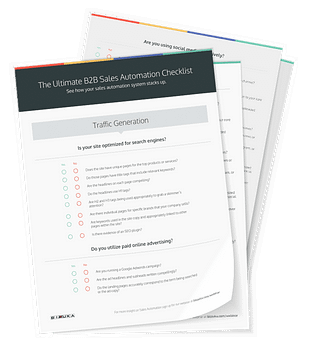b2b sales automation checklist